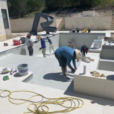 Decking and masonry work