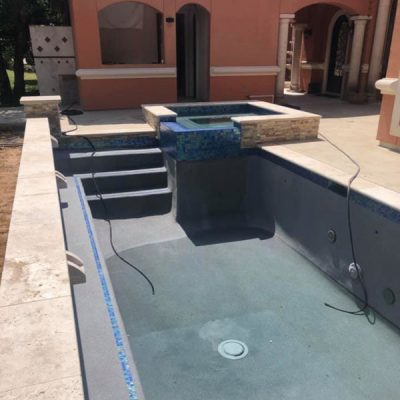 Tile and coping